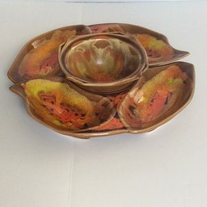 California Original pottery chip and dip set 10332